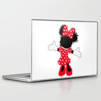 minnie mouse Laptop & iPad Skins featuring Minnie Mouse Paint Splat Magic by Whimsy and Nonsense