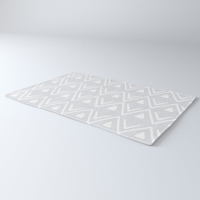 Etched Zig Zag Pattern in Gray Rug