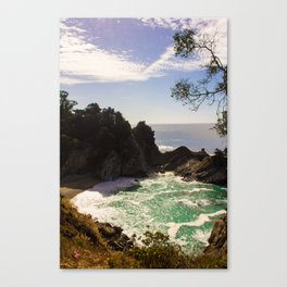 Beach Waterfall Canvas Print