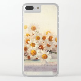 daisies on a stool Clear iPhone Case