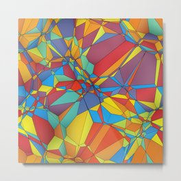 Colorful miscellaneous shapes Metal Print