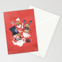 Mad Hatter's Tea Party - Alice in Wonderland Stationery Cards