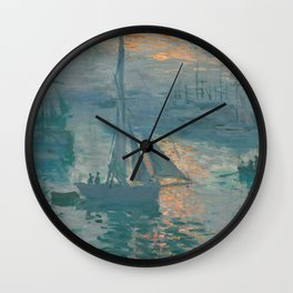 Claude Monet - Marine Sunrise, 1873 Wall Clock