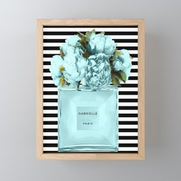 Teal perfume art Framed Mini Art Print