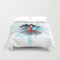 Joshua Tree Heart Light by CREYES Duvet Cover