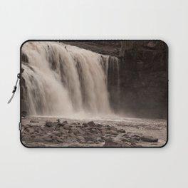 Waterfall in Sepia Tone Laptop Sleeve