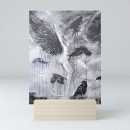 Fly Raven - fly Mini Art Print