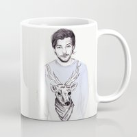 coconutwishes Mugs featuring Louis and his deer by Coconut Wishes