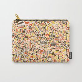 Berlin City Map Poster Carry-All Pouch