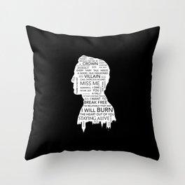 Jim Moriarty  - Sherlock black Throw Pillow