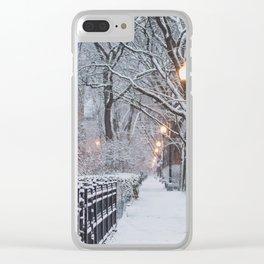 An Urban Snow Day Clear iPhone Case