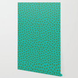 Cactus Christmas Tree in Blue Wallpaper