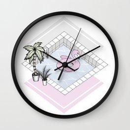 Flamingo's Paradise Wall Clock
