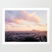 View of Downtown Los Angeles Art Print