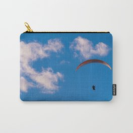 Paragliding Through Blue Skies Carry-All Pouch