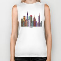 atlanta Biker Tanks featuring Atlanta city  by bri.buckley
