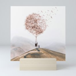 Flying Dandelion Mini Art Print