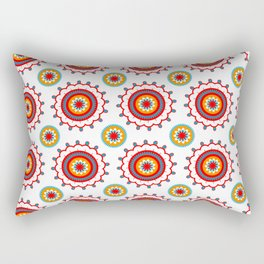 Retro Flower Rectangular Pillow