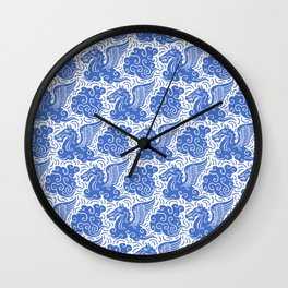 Pegasus Pattern Blue Wall Clock
