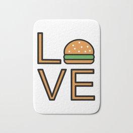Love Burgers Very Cute And Funny Love Gift Idea Bath Mat
