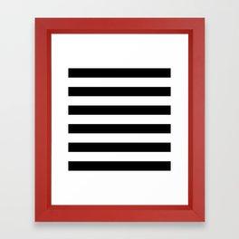 Black White Stripe Minimalist Framed Art Print