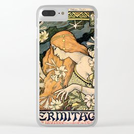 Vintage poster - L'Ermitage Clear iPhone Case