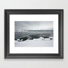 Ice on Lake Superior Framed Art Print