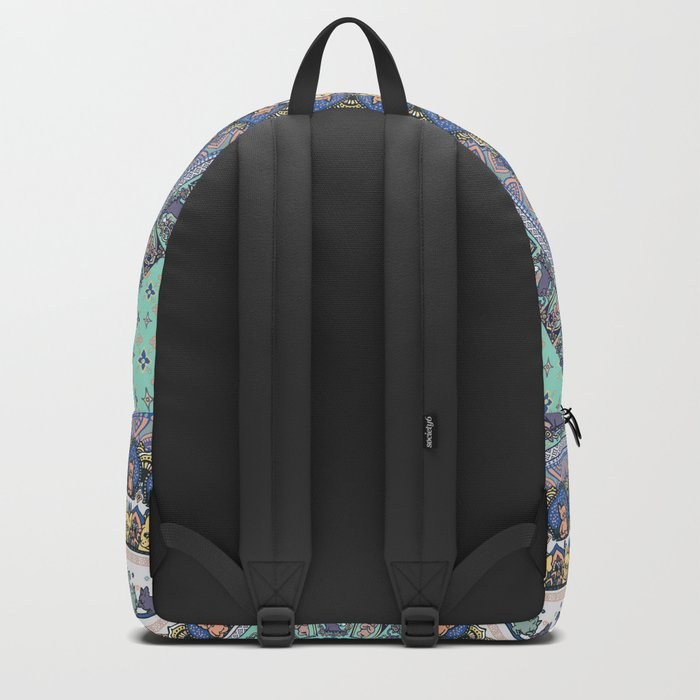 Frenchie Yoga Medallion Backpack