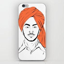 Bhagat Singh #IpledgeOrange iPhone Skin