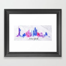 Color New York Skyline 02 Framed Art Print