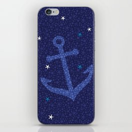 Starfish Anchor - Navy iPhone Skin