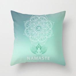 Namaste 2 Throw Pillow