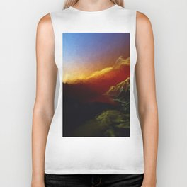 Sunset in the Mountains Biker Tank