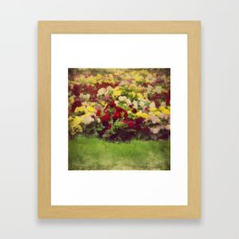 Vintage Pretty Flowers Framed Art Print