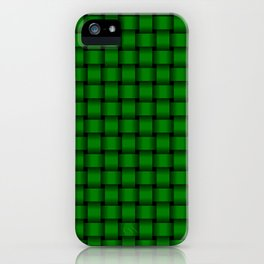Small Green Weave iPhone Case