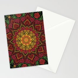 Rose Mandala Stationery Cards