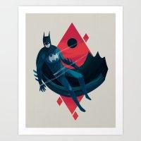 knight Art Prints featuring Knight by Reno Nogaj