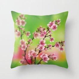 Cherry Blossom - Variation 3 Throw Pillow