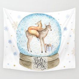 Christmas deer #3 Wall Tapestry