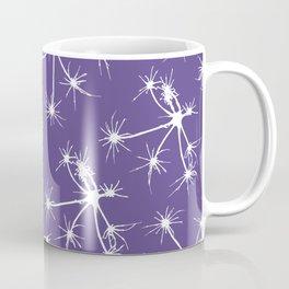 Floral Fireworks - Ultra Violet Botanical Pattern Coffee Mug
