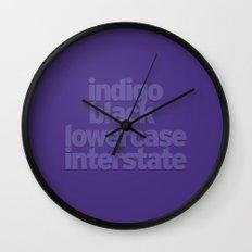 MetaType Indigo Wall Clock