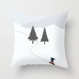 One Fine Winter Day Throw Pillow