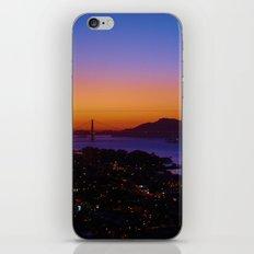 San Francisco Sunset - Golden Gate Bridge in the Background iPhone & iPod Skin