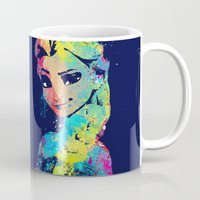elsa Mugs featuring Elsa by lauramaahs