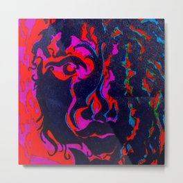 Face Artifact Color Metal Print