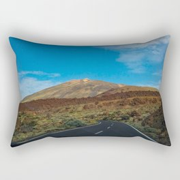 Photo of a road to the Teide at Tenerife Rectangular Pillow