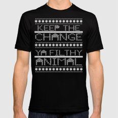 Keep the Change Christmas Sweater RonkyTonk Mens Fitted Tee LARGE Black