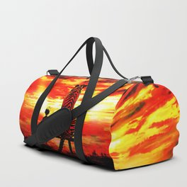 Calvin And Hobbes With Nebula Duffle Bag