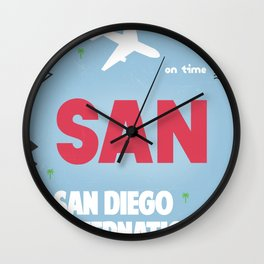 San Diego California Wall Clock