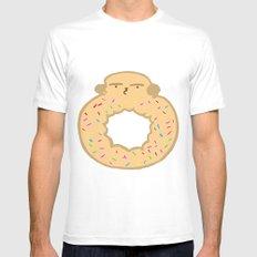 Bovi-doughnut MEDIUM Mens Fitted Tee White